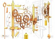 Clock Design With Fitting Pieces