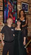 "Me, Ashleigh and Toni. ""Two Girls and a Guy"" art show at AKA Lounge."