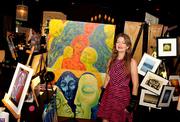 Felicia Roberts at July 11 2013 RAW art show