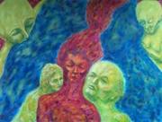 Memories, Original Oil Painting, July 11 2013 RAW art show