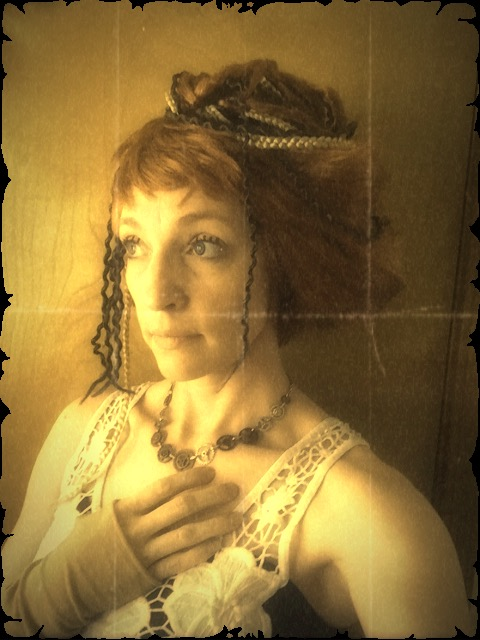 T'luluh Channeling Gibson Girl - Aged Photo