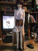 Sakura's new steampunk outfit.