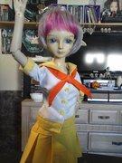 Jo in her schoolgirl outfit 1