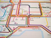 Bangkok Van Route Information Graphic Design
