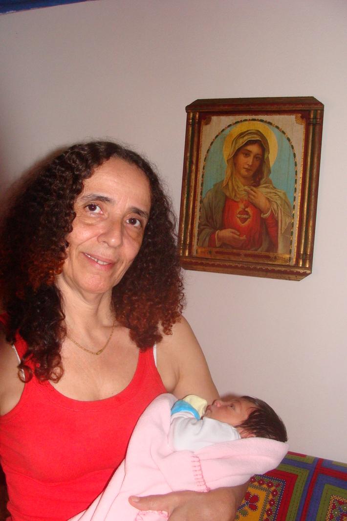 Eu, meu netinho e Nossa Mãe