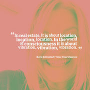 In the World of Consciousness it is about VIBRATION