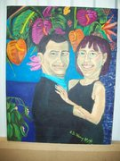 me and larry painting