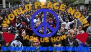 World Peace Now - Ask Us How, poster