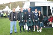 Visitors to the clan tent
