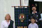 Visitors at the clan tent