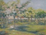 Village derrière les pommiers