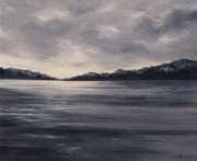 Nuit tombante sur la lac Ballaton