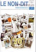 Couverture  de la revue le Non-Dit 2008