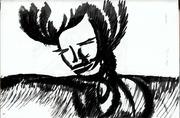 En noir et blanc: esquisses, illustrations...