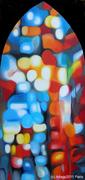 """la lumière du nulle part """"série 'réflexion silencieuse' huile sur toile170x81"""