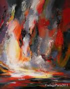 le naufrage de la pensée, série 'reflexions vagabondes' 100x81cm