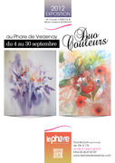 Exposition Duo couleurs Marie-Josèphe Bourgau –Claude Carretta