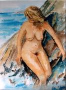 Baigneuse aquarelle