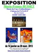 Affiche Expo MUSEE DU COQ GALLINOTHEQUE YZEURE Janvier 2013
