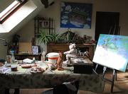 Mon atelier ...avec quelques projets en cours
