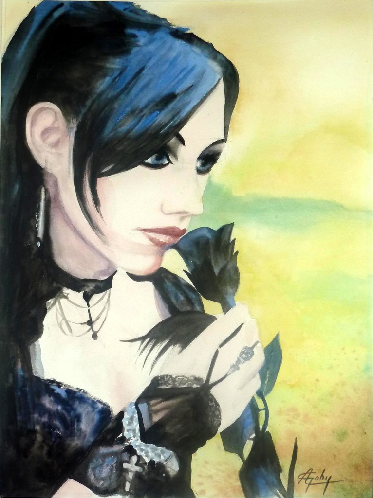 Jeune fille gothique