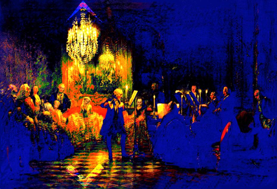 La Flûte enchantée - Adolph Menzel