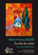 Exposition Marie-France BUSSET Salle edmond Maupoil 03140 CHANTELLE