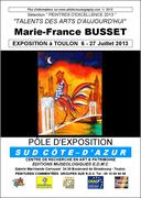 AFFICHE TOULON MARIE-FRANCE BUSSET