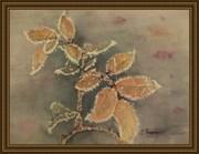 feuilles givrées