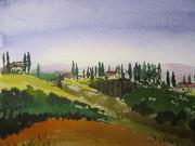 Couverture d'Aller-Retour (aquarelle de M Rouhart)