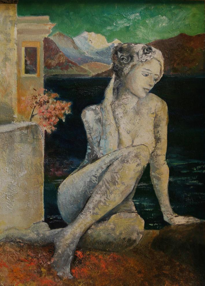 La femme du lac (huile)