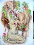 femme bacchusienne 2006 (dessin-pastel) 96-68