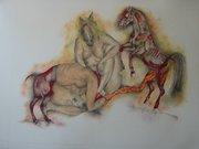 la femme sans tort 2003  (dessin-pastel) 62-51