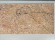 Harvest Mouse 7 - carved lino