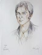 Noel Gallagher 50x65cm crayon couleur par Aimé Venel
