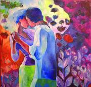 Les amants en fleur