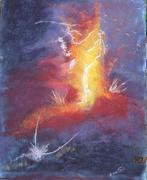 Eruption 1                 40X50                   Pastel sur carton entoillé