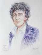 Alain Souchon 50x65cm crayon couleur par Aimé Venel