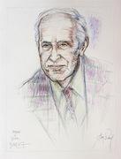 Pierre Boulez 50x65cm crayon couleur par Aimé Venel
