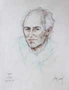 Michel Delpech 50x65cm crayon couleur par Aimé Venel