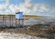 Carrelet dans l'estuaire - pastel 70x50