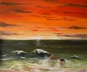 """"""" Quand l'or du ciel épouse la mer """""""