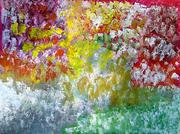 300 Paysage champetre acryliquesur toile - 130x97 cm