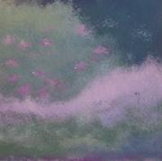 pkinard acryl sur toile, 100x100,2016.L'étang.