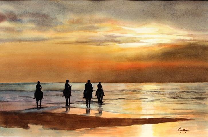 Un soir au littoral belge
