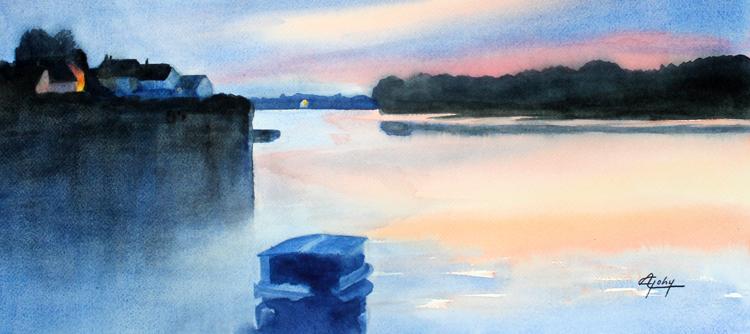 Un soir sur La Loire