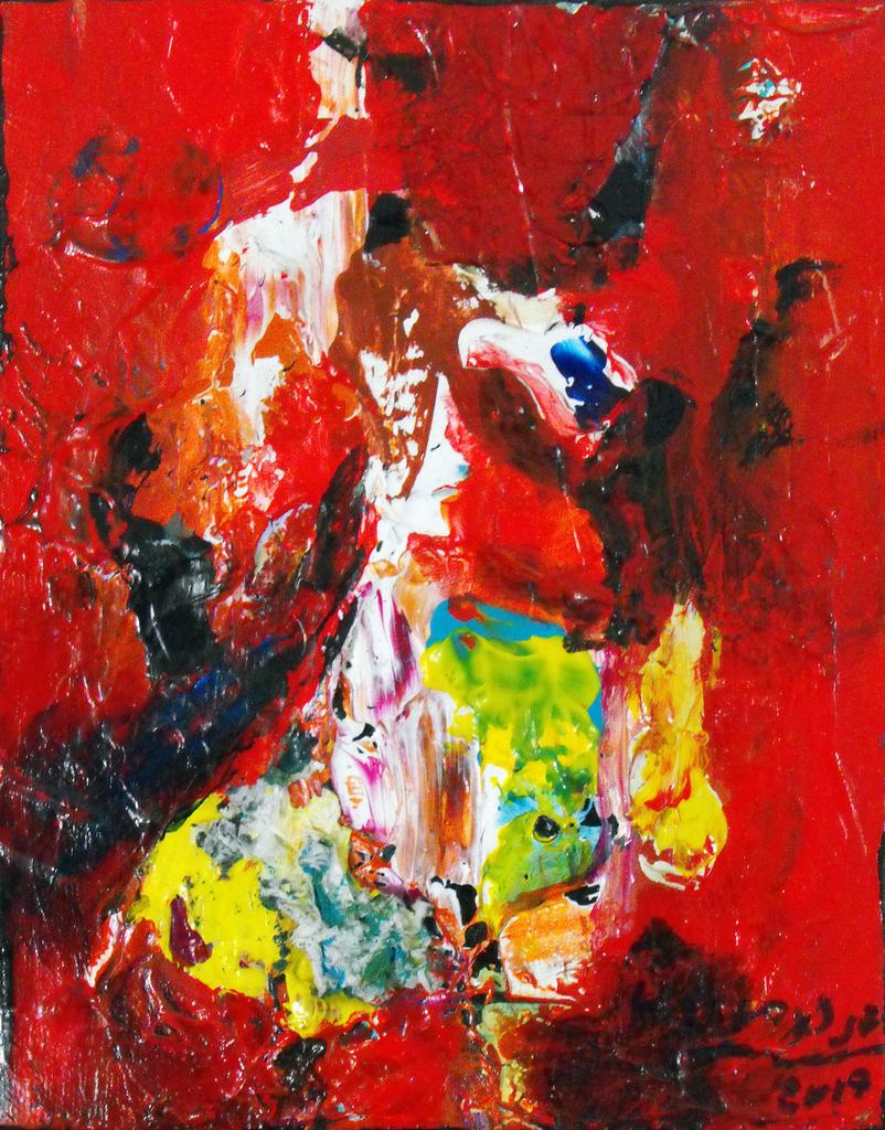 Abstrait 20 X 24 Acry