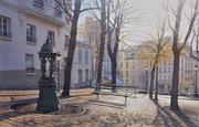 """""""Crépuscule sur la place Emile Goudeau à Montmartre"""""""