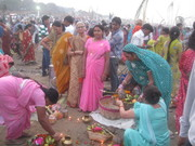 My mother at ghat