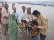 Offering Sandhya arghya 3